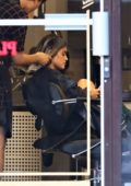 Lucy Hale shows off a fresh Haircut in Vancouver, Canada