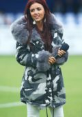 Lydia Lucy attends a friendly match between Billericay Town and West Ham United XI at AGP Arena