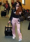 Madelaine Petsch catch a flight out of Vancouver to Los Angeles