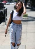 Madison Beer arriving at a Salon in Los Angeles