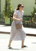 Mandy Moore goes out to lunch in a Floral Print dress in Los Angeles
