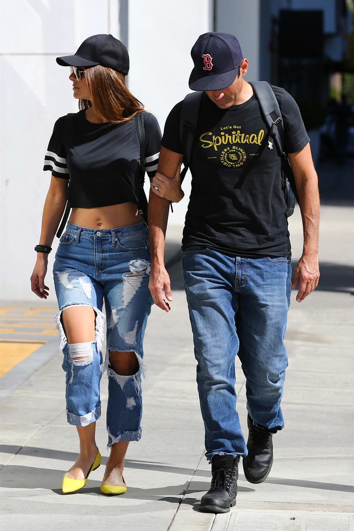 maria menounos and boyfriend keven undergaro went for a ...