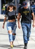 Maria Menounos and boyfriend Keven Undergaro went for a stroll in Beverly Hills