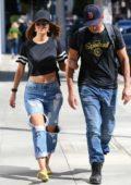 Maria Menounos and boyfriend Keven Undergaro went for a stroll in Beverly Hills