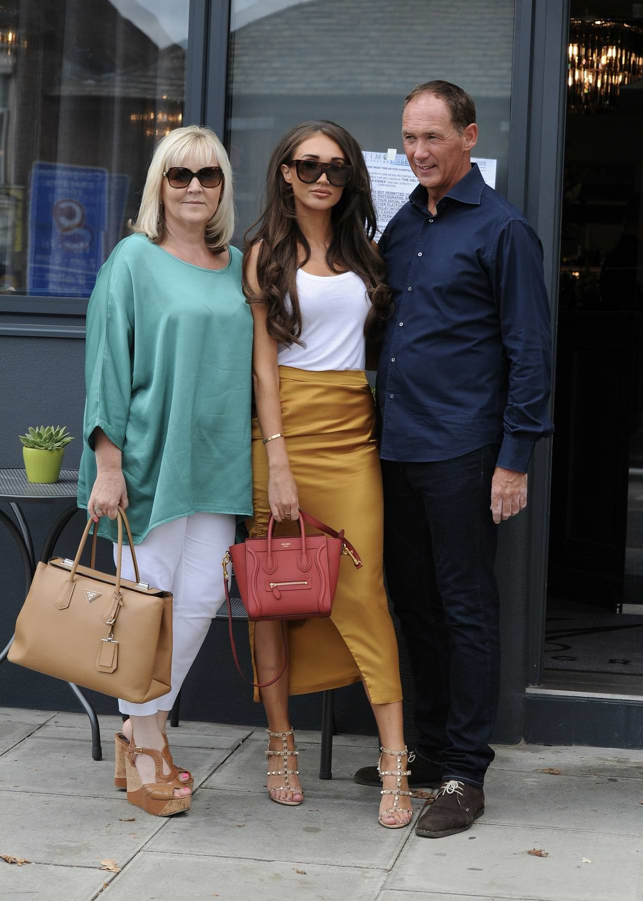 Megan McKenna out and about with her Parents in Liverpool, UK