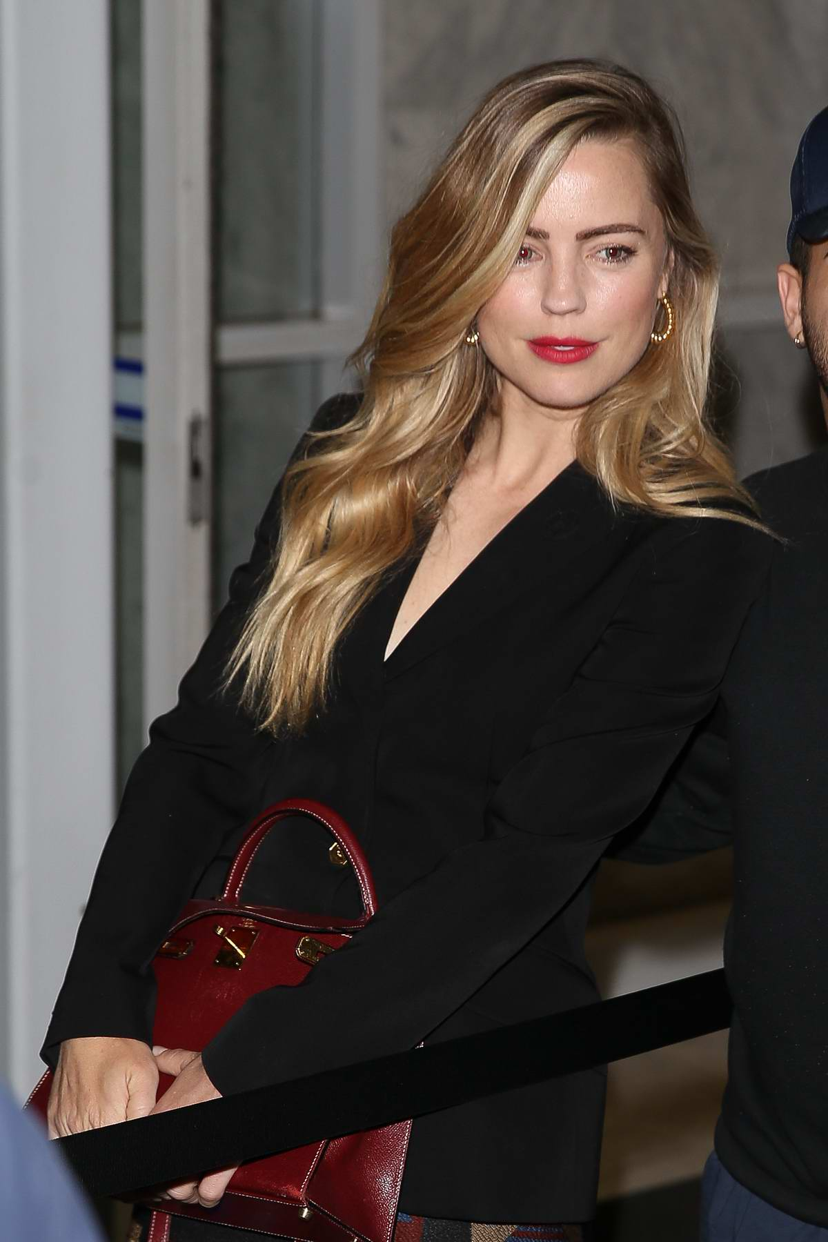 Melissa George is seen leaving 'The Project' in Melbourne, Australia
