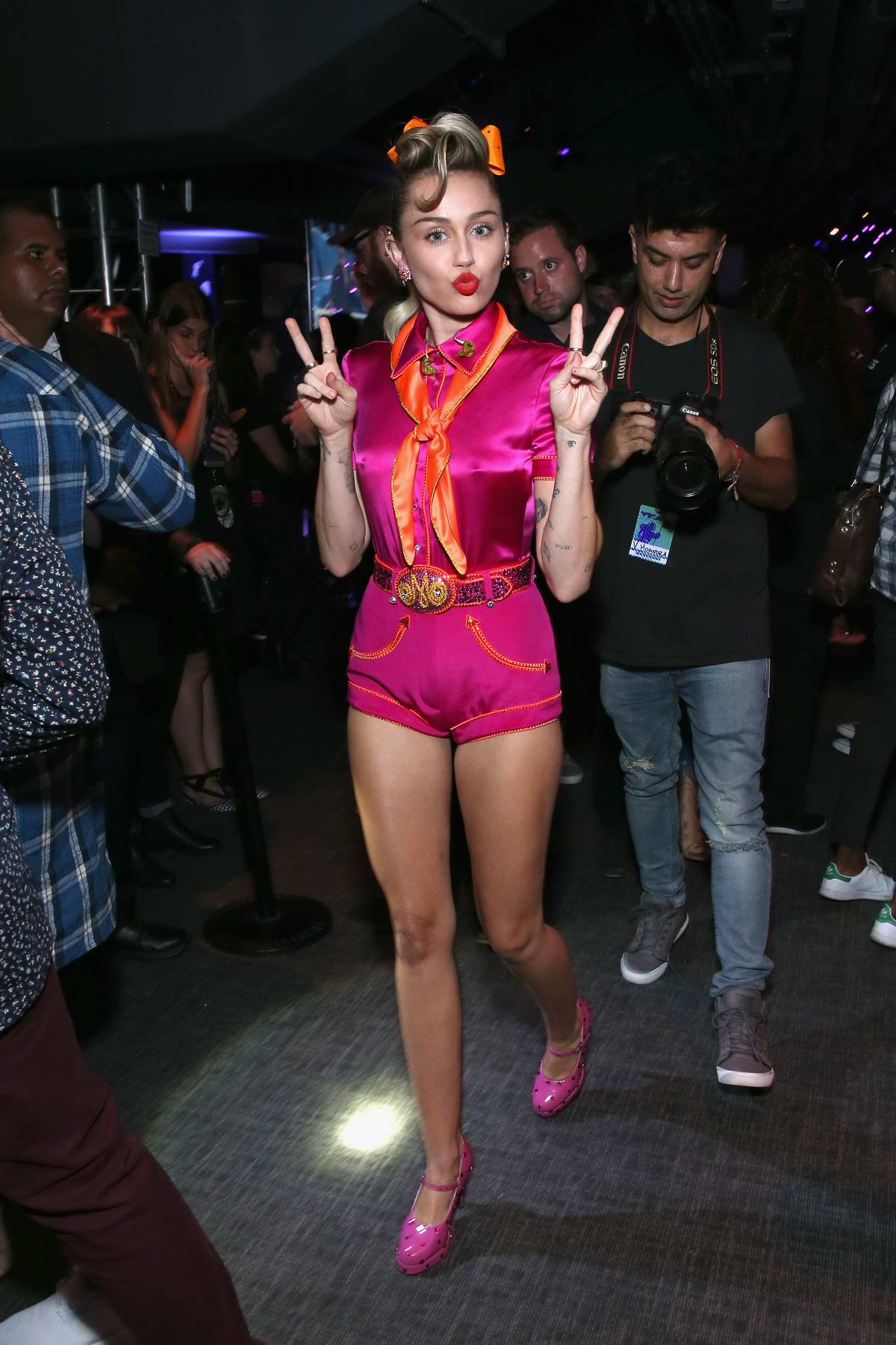 Miley Cyrus at 2017 MTV Video Music Awards at the Forum in Inglewood, California