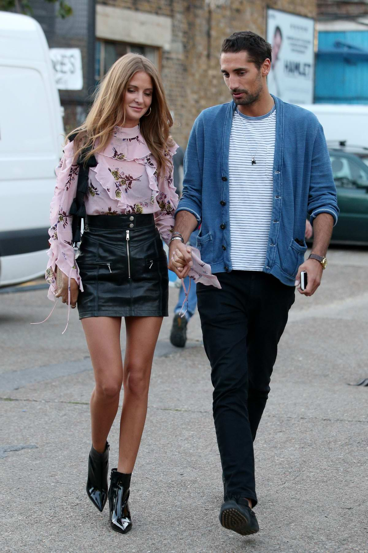 Millie Mackintosh and boyfriend Hugo Taylor out and about in London