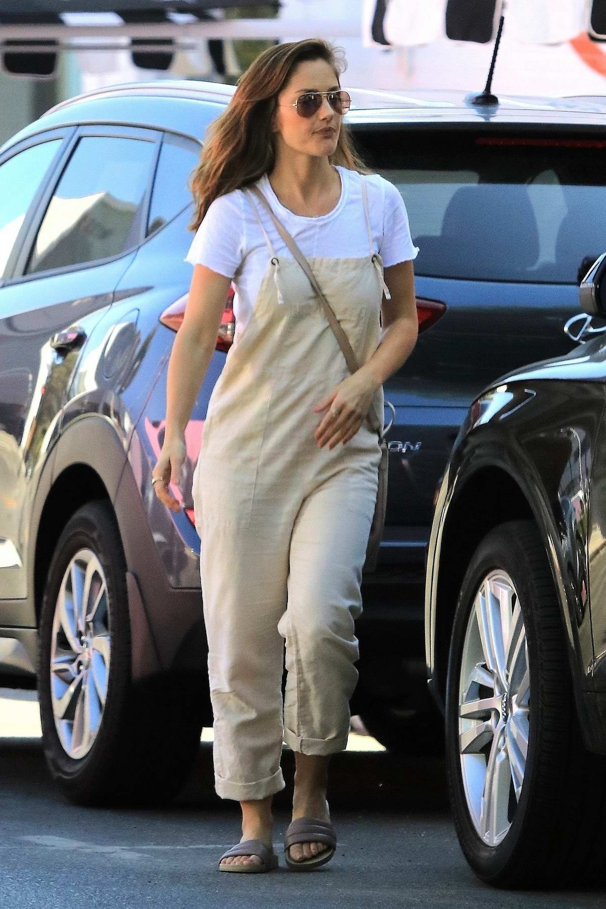 Minka Kelly grabs some takeaway from Joans on Third in West Hollywood, Los Angeles