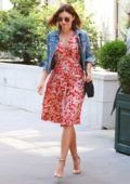 Miranda Kerr in a Summer dress out running errands in New York
