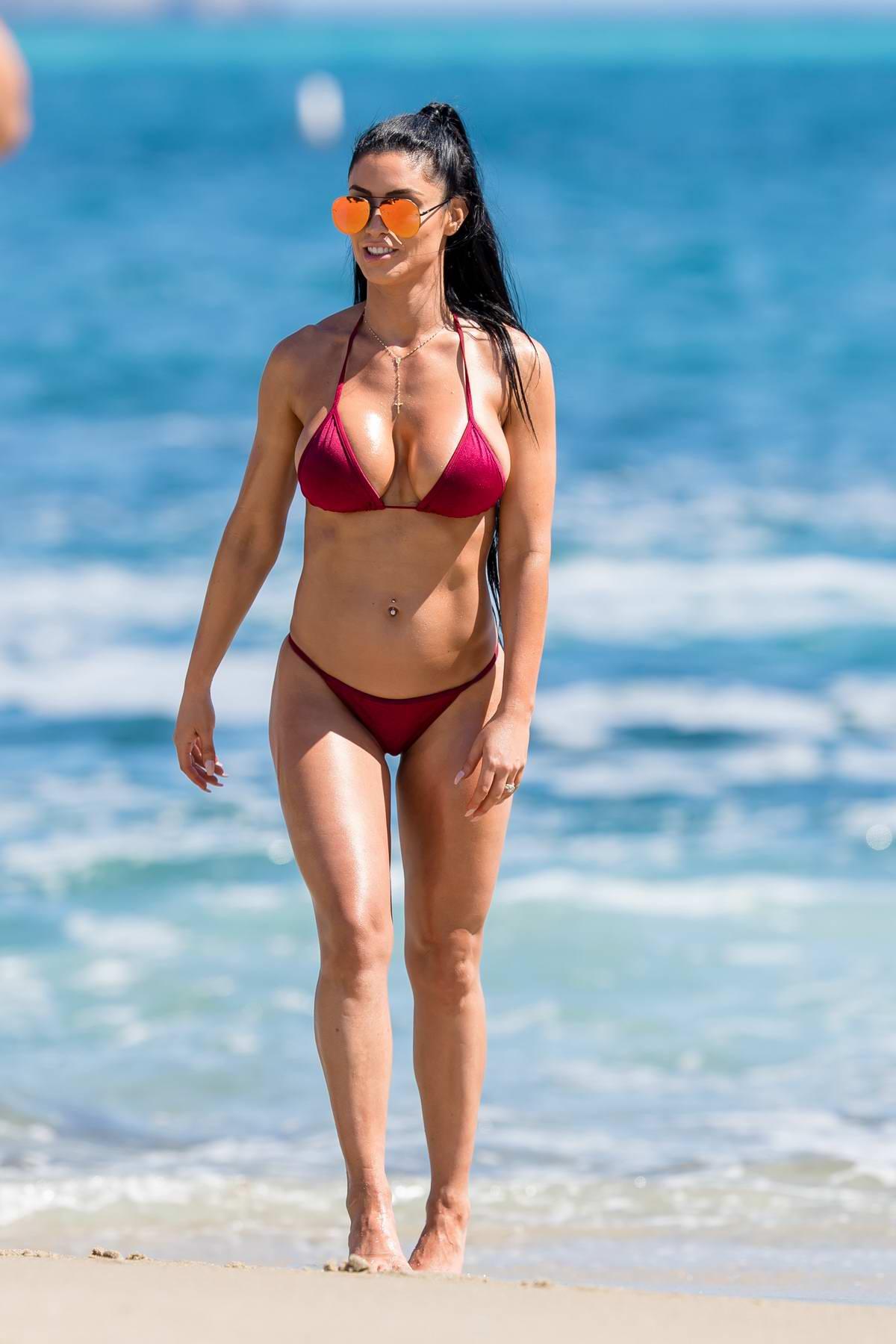 Natalie Eva Marie in bikini on a NEM Fashion shoot on Laguna beach in Los Angeles