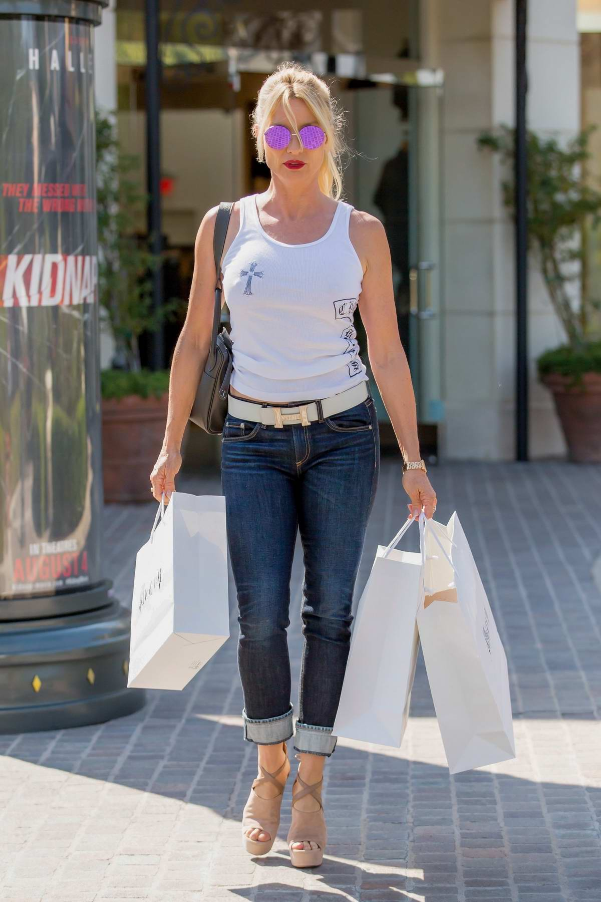 Nicollette Sheridan out shopping in Calabasas, California