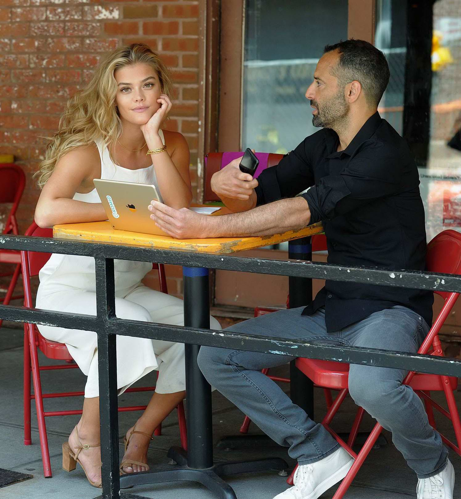 Nina Agdal out on lunch with a Friend in New York