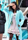 Olivia Munn on the set of 'Buddy Games' in Vancouver, Canada