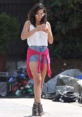Olivia Munn spotted on the set of The Buddy Games in Vancouver, Canada