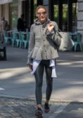 Olivia Palermo going to a Gym in the Dumbo section of Brooklyn in New York