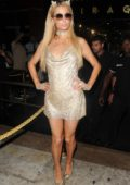 Paris Hilton arrives late to her Gig at Mirage Mightclub in Puerto Banus, Marbella, Spain