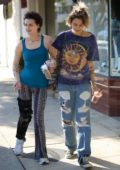 Paris Jackson is spotted out for lunch at Joans on Third with a friend in Studio City, Los Angeles