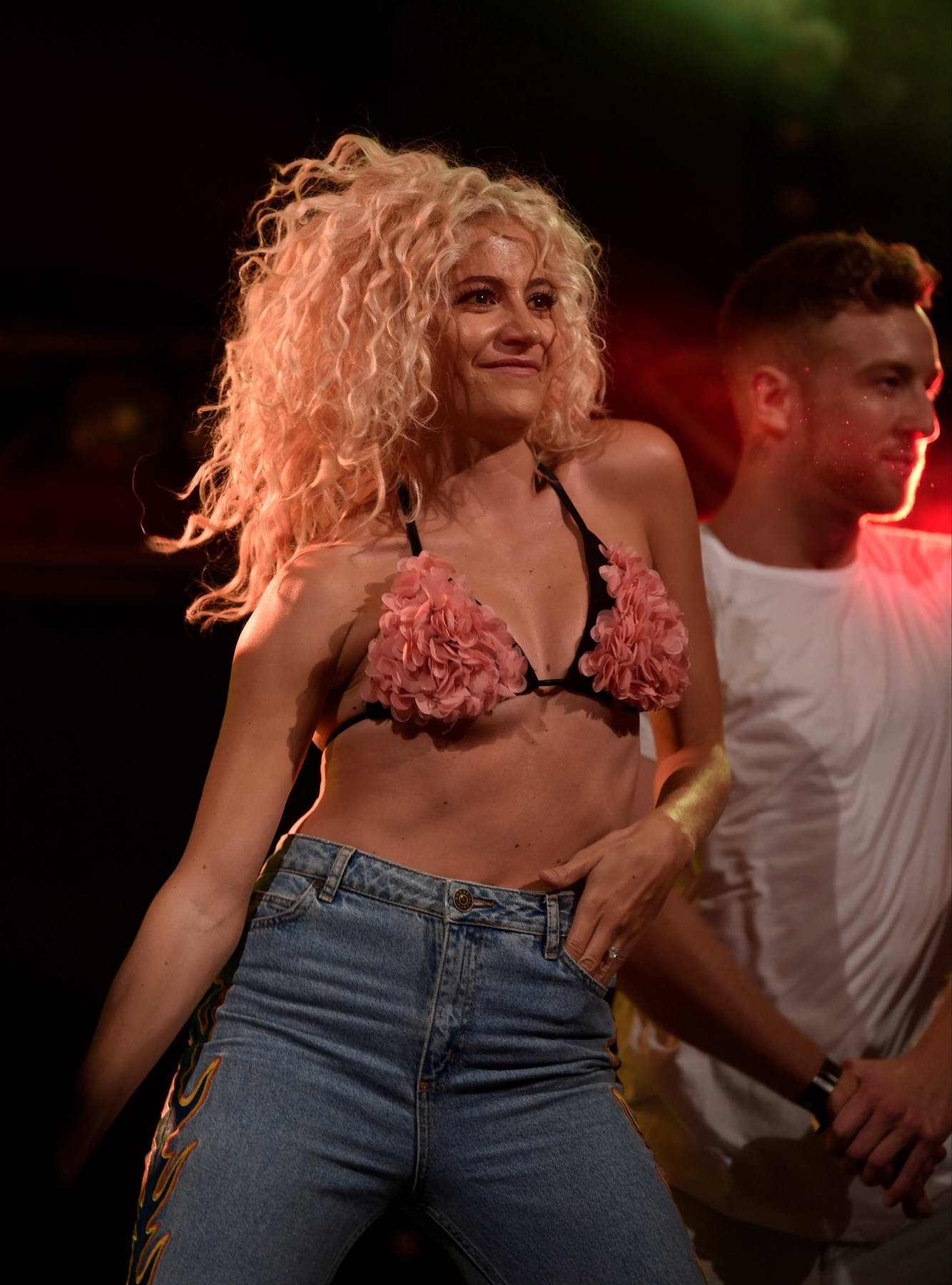 Pixie Lott performing at Manchester Pride in Manchester, UK