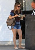 Rachel Bilson stop by Joans on Third for lunch with a friend in Studio City, Los Angeles