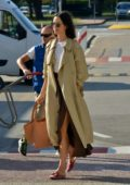 Rebecca Hall and husband Morgan Spector arrives at Venice Airport in Venice, Italy