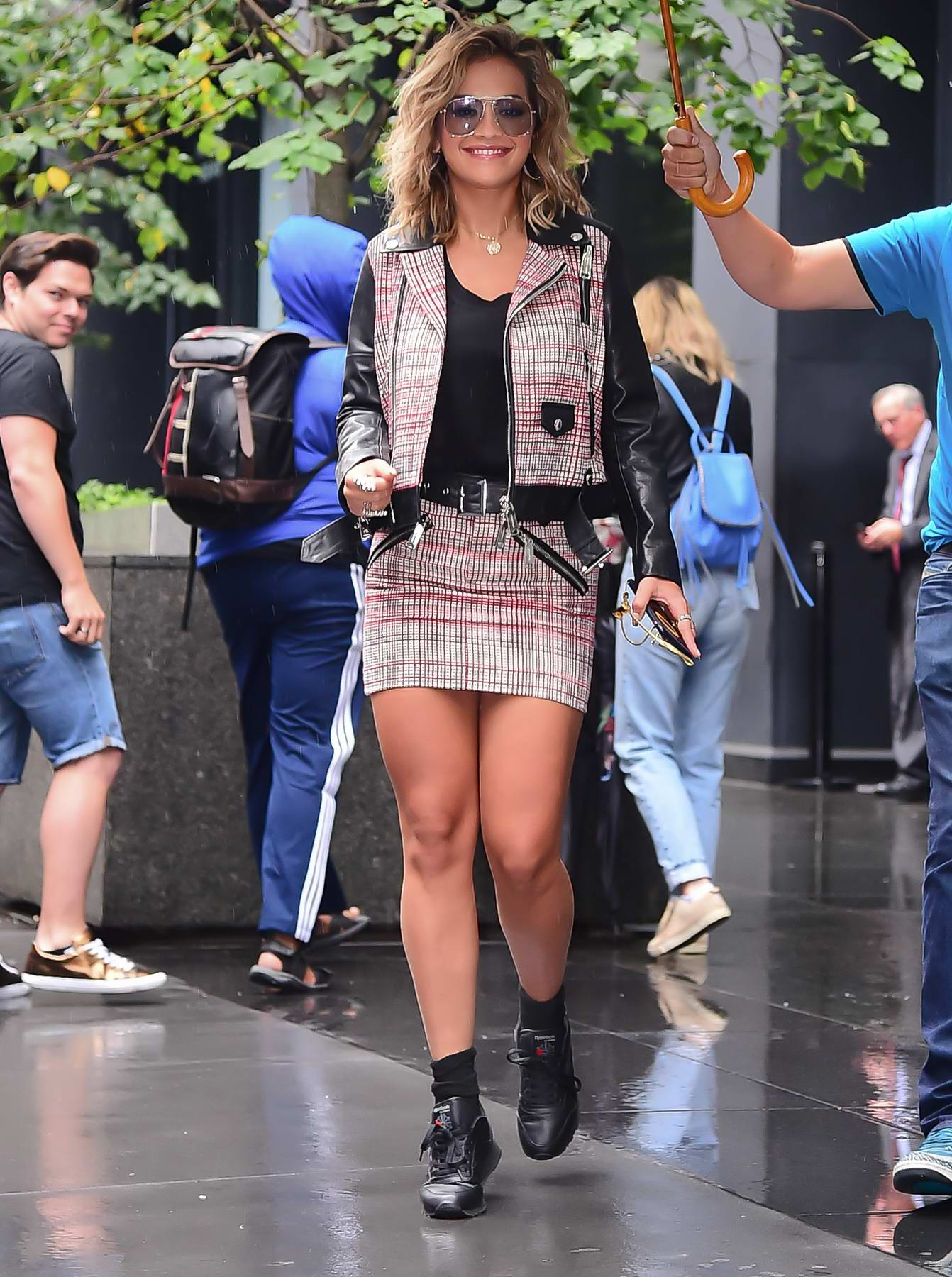 Rita Ora leaving a Radio Show studio in New York City