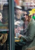 "Sandra Bullock and Cate Blanchett on location at Cafe Veselka in East Village filming ""Ocean's Eight"" in New York"
