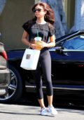 Sarah Hyland looks casual as she leaves Nine Zero One hair salon in West Hollywood
