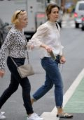 Sarah Paulson and partner Holland Taylor shopping in Soho, New York