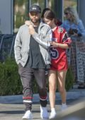 Selena Gomez and The Weeknd at a local grocery store in Los Angeles