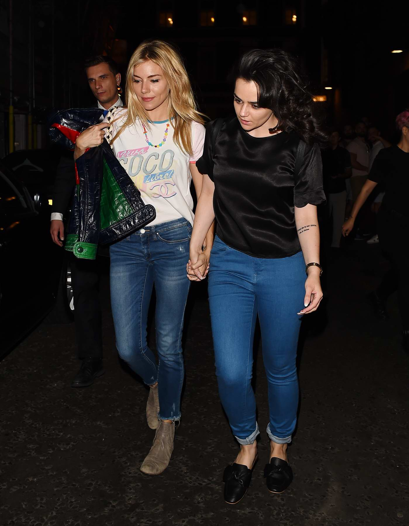 Sienna Miller leaving after performing in Cat on a Hot Tin Roof at Apollo Theatre in London