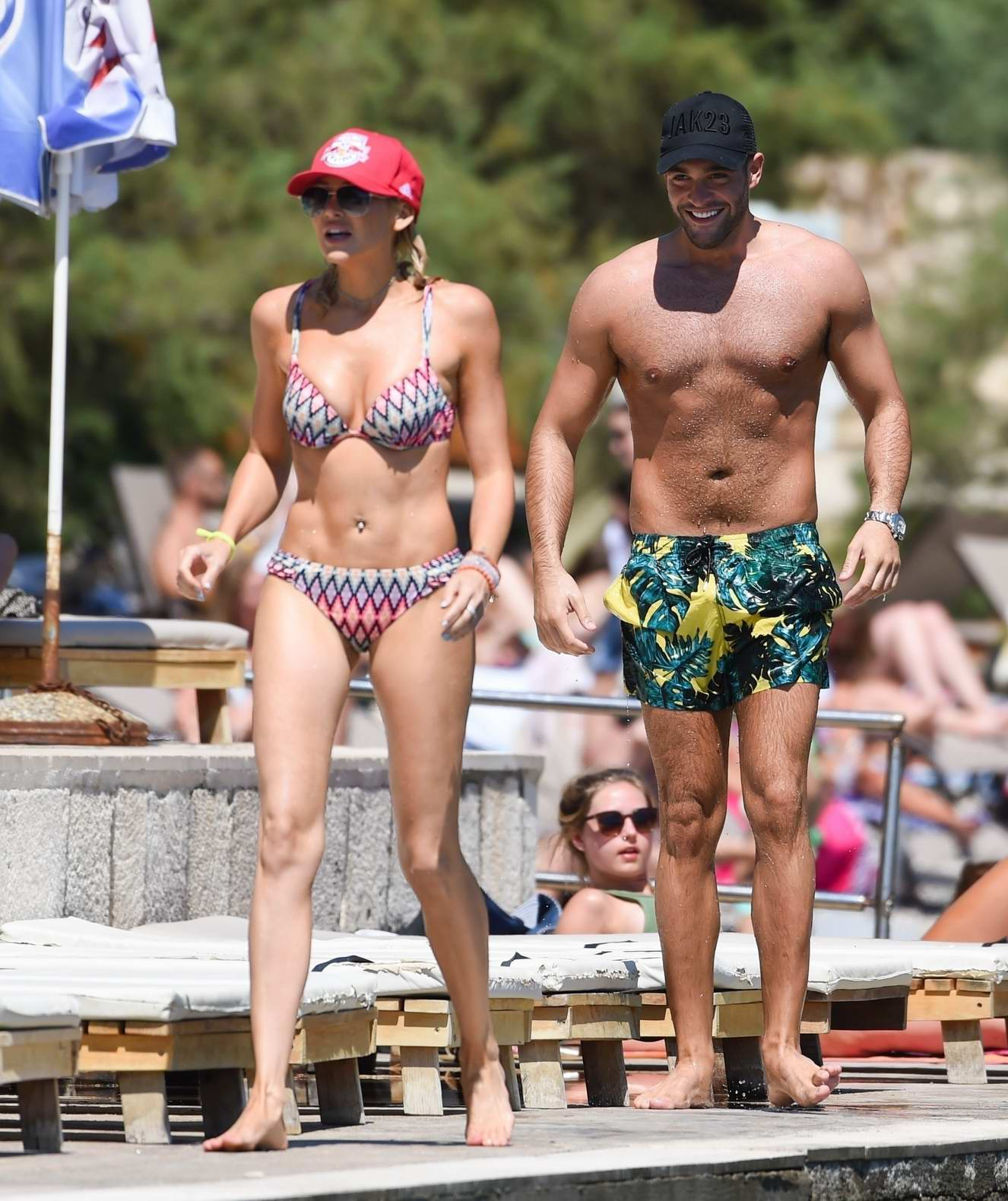 Stephanie Pratt in a bikini on holiday with Jonny Mitchell in Croatia