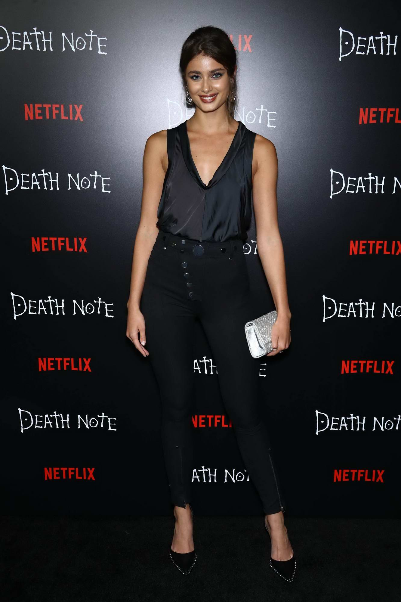 Taylor Hill attends the Death Note Premiere in New York