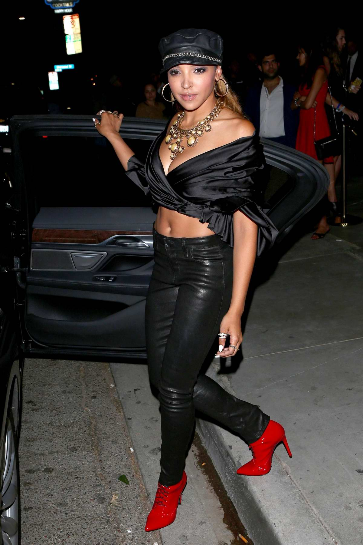 Tinashe leaving the Republic Records and Cadillac VMA after-party West Hollywood, Los Angeles