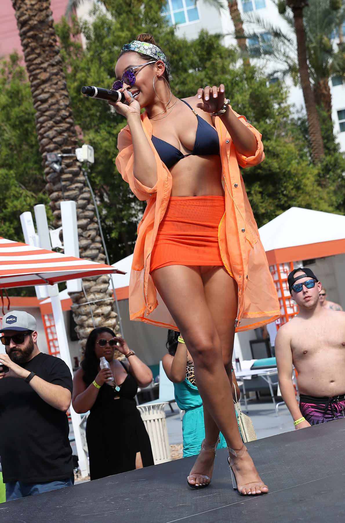 Tinashe performs live at Go Pool inside Flamingo Hotel and Casino in Las Vegas
