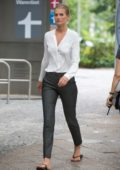 Toni Garrn at the movie set of 'Berlin I Love You' in Berlin, Germany