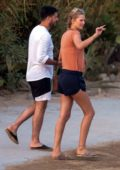 Toni Garrn spotted with a Mystery Man in Mykonos, Greece