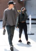 Vanessa Hudgens and Austin Butler cover up after a Doctor's office visit together in Beverly Hills