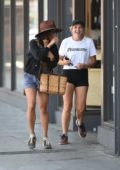 Vanessa Hudgens goes shopping at Urban Outfitters in Los Angeles