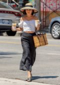 Vanessa Hudgens out on a Coffee run at Alfreds in Studio City, Los Angeles