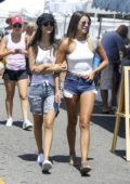 Victoria Justice and Madison Reed visit a farmers market in Los Angeles