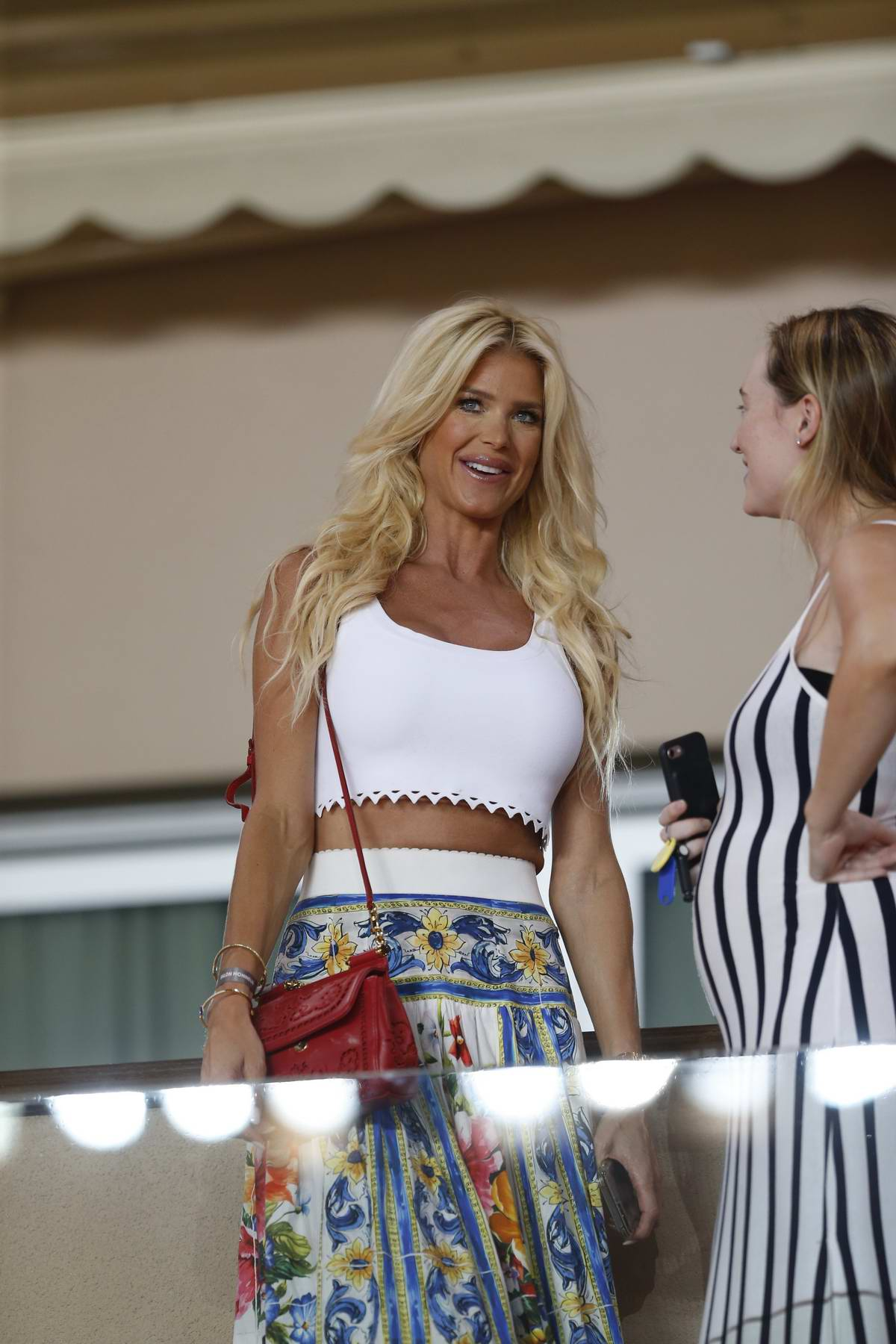 Victoria Silvstedt attending as Monaco Vs Olympique Marseille at Louis II Stadium in Monaco