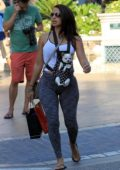 Vida Guerra was seen taking her puppy shopping with a group of friends at The Grove in Hollywood, Los Angeles