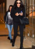 Adriana Lima spotted leaving the Edition Hotel in New York