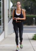 Alessandra Ambrosio hits the gym in Brentwood, Los Angeles