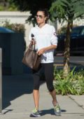 Alessandra Ambrosio is spotted headed to the gym in Los Angeles