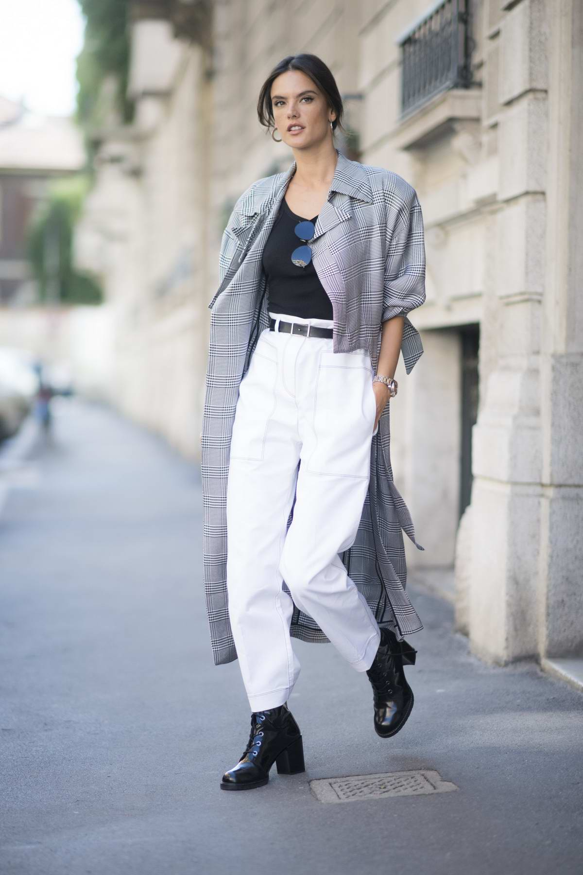 Alessandra Ambrosio out and about during Milan Fashion Week, Italy