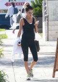 Alessandra Ambrosio starts her week off with a trip to the gym in Brentwood, Los Angeles