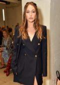 Alycia Debnam-Carey at Dion Lee show during New York Fashion Week