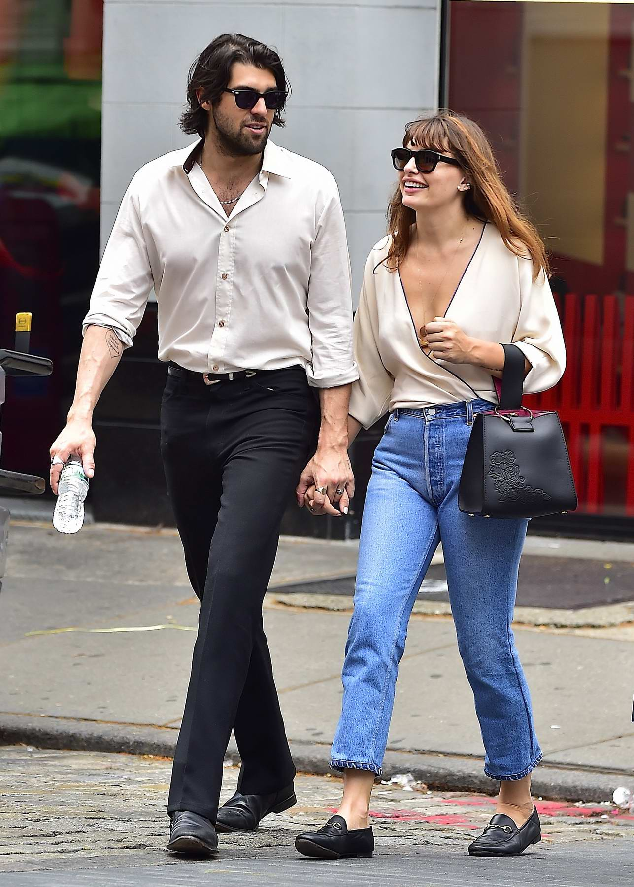Alyssa Miller is seen with her new boyfriend enjoying a nice walk in SoHo, New York City
